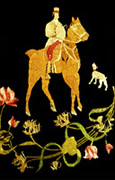 Malkah's embroidered horse adn rider.